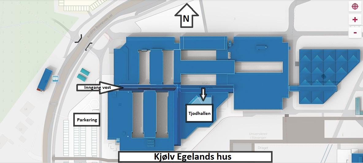 Kart over bygningen